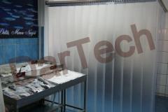 Frigorifice: Perdea din PVC semi-transparent la o pescarie