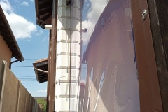 Vedere exterioara inchidere terasa PVC transparent