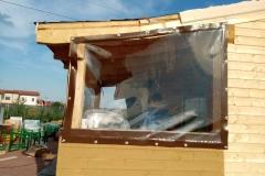 detaliu de executie PVC transparent
