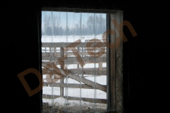 vedere din interior a unui grajd protejat