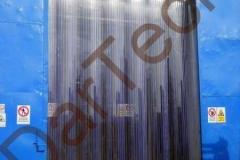 Perdea industriala din fasii PVC cu striatii