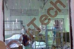 Perdea PVC pentru trafic pietonal hala industriala