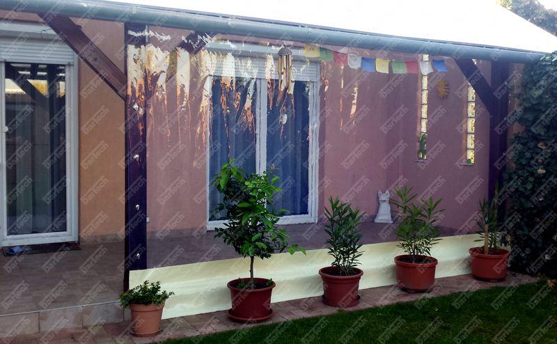 inchidere terasa cu folie pvc transparentă
