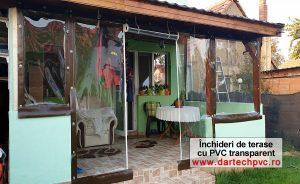 folia cristal si inchidere terasa cu PVC transparent