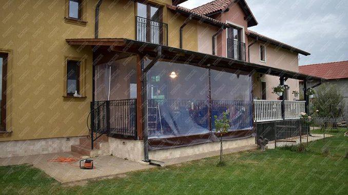 folia cristal inchidere terasa PVC transparent