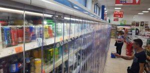 perdea PVC transparent la vitrina frigorifica