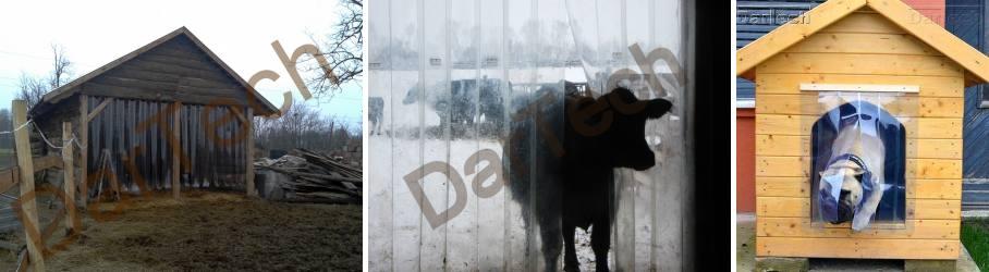 perdea fasii PVC pentru animale