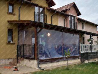 PVC transparent cu inchidere terasa