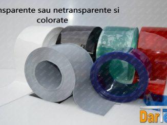 tipuri de PVC transparent color