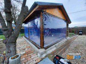 inchidere terasa cu PVC transparent
